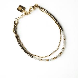 dubbele armband goud zag bijoux