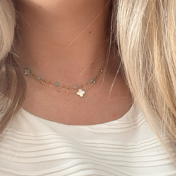 Made by Mila | Ketting turqoise maansteen - ZAG Bijoux 2