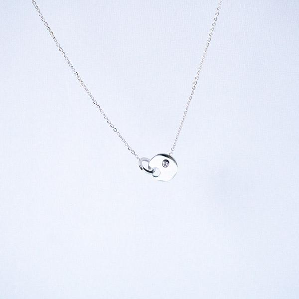 zilveren ketting rondje zag bijoux
