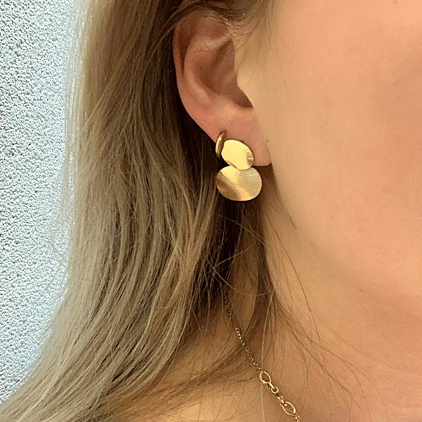 Gouden oorbellen Go Dutch Label