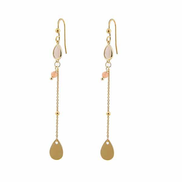 gouden oorbellen hangers Go Dutch Label