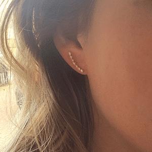 gouden oorbellen zag bijoux