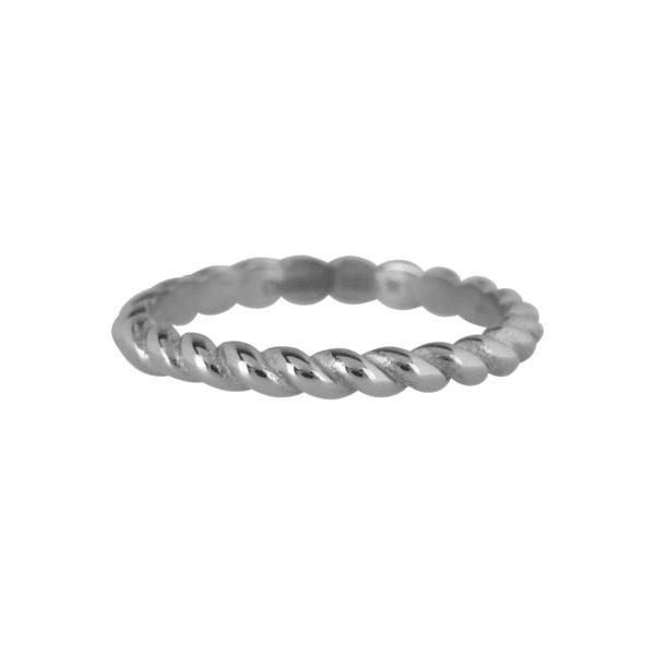 zilveren curve ring Charmin's