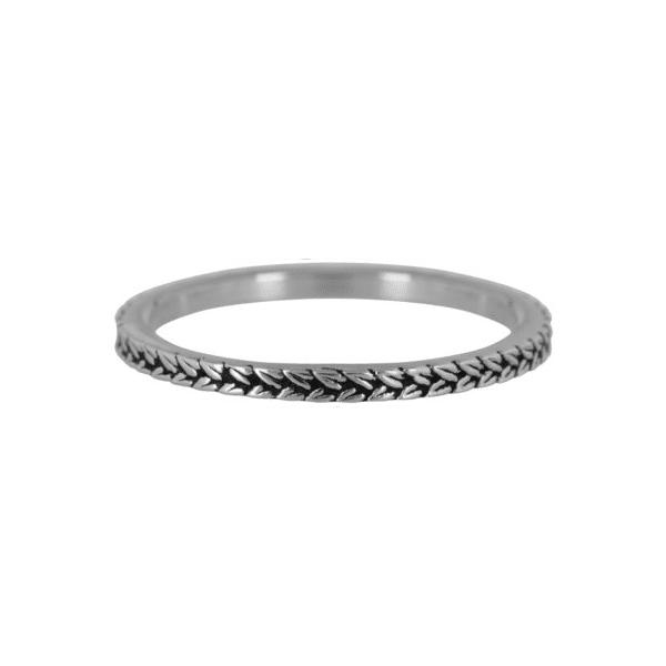 zilveren briads ring Charmin's