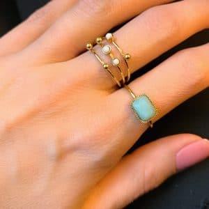 gouden ringen met steentjes zag bijoux