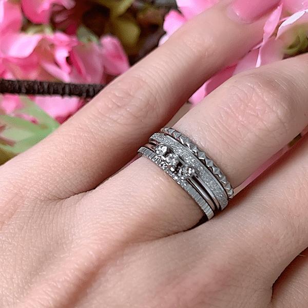 zilveren ring Charmin's