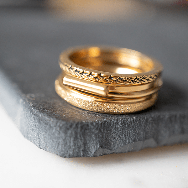 gouden stapelring Charmin's