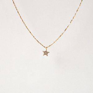 gouden ketting ster zag bijoux