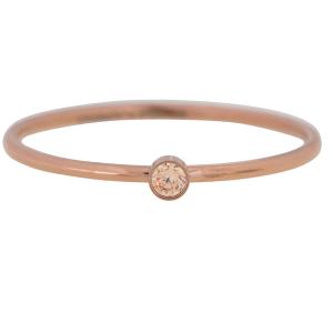 rose ring met gekleurde zikonia