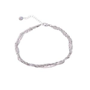 zilveren enkelband driedelig