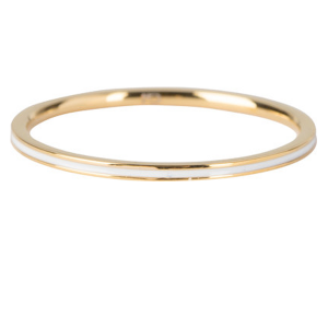 gouden ring met witte streep