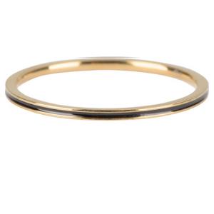 gouden ring met zwarte streep