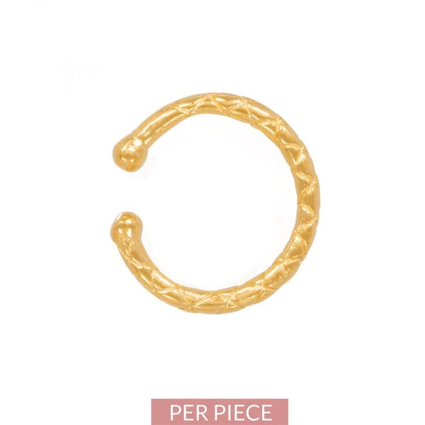 Made by Mila | Snake ear cuff goud - Eline Rosina Oorbellen 1
