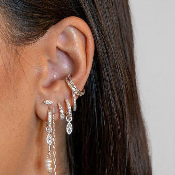Made by Mila | Snake ear cuff zilver - Eline Rosina Oorbellen 2