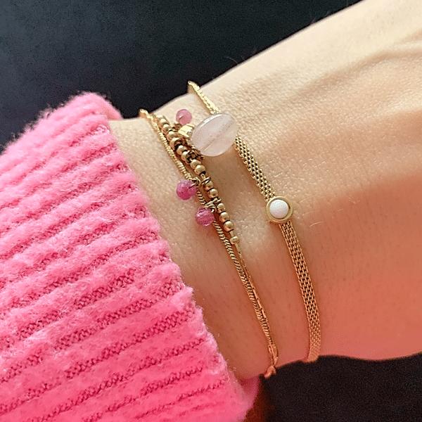 gouden armband met steen zag bijoux