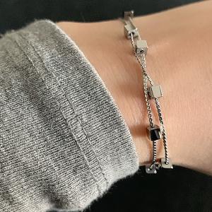 zilveren armband kubussen zag bijoux