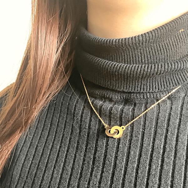 gouden ketting zag bijoux
