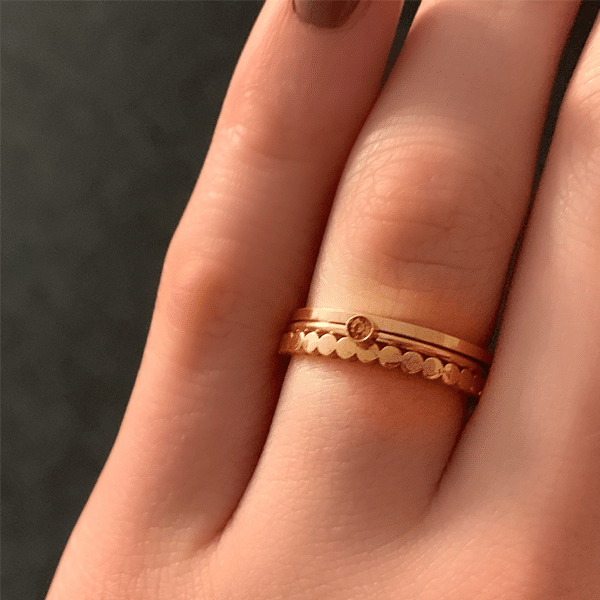 rose gouden ringen charmin's