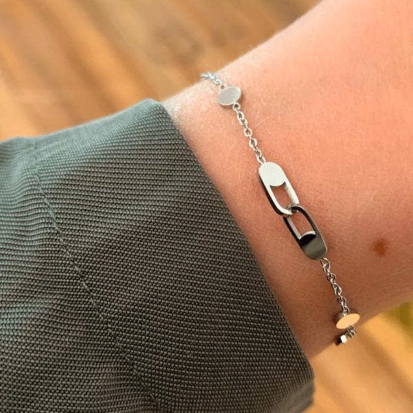 Made by Mila | Zilveren armband met schakel - ZAG Bijoux 2