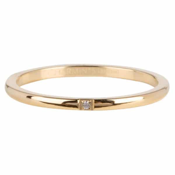 Made by Mila | Ring goud 'Precious Shiny Steel' - Charmin's 1