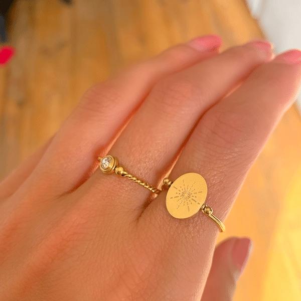Made by Mila | Ring enkel twisted round goud - ZAG bijoux 2