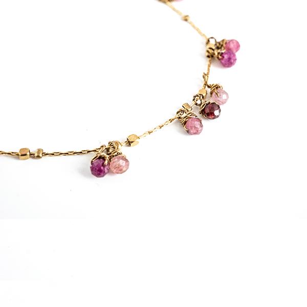 Made by Mila | Armband goud met rose steentjes - ZAG Bijoux 3