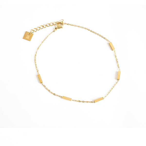 Made by Mila   Enkelbandje recht staafje goud - ZAG Bijoux 1