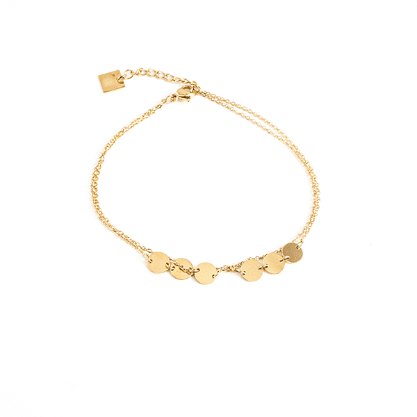 Made by Mila | Enkelbandje dubbel rondje goud - ZAG Bijoux 1