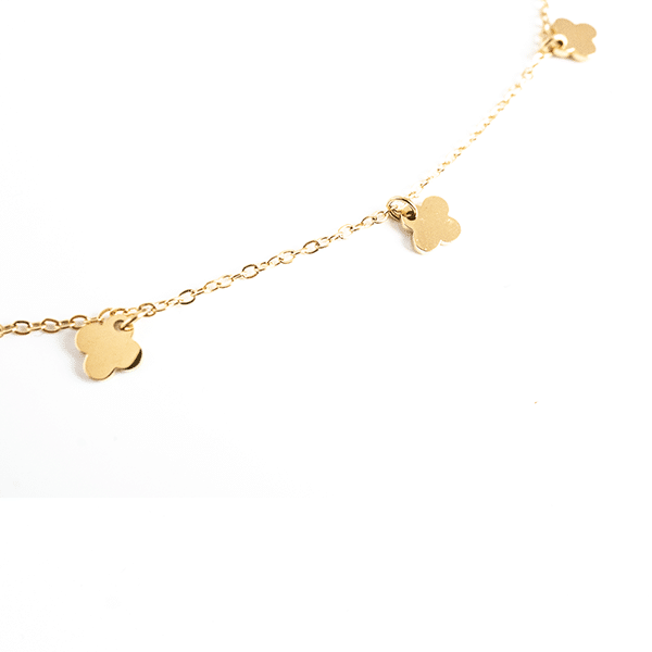 Made by Mila | Enkelbandje dichte klaver goud - ZAG Bijoux 4