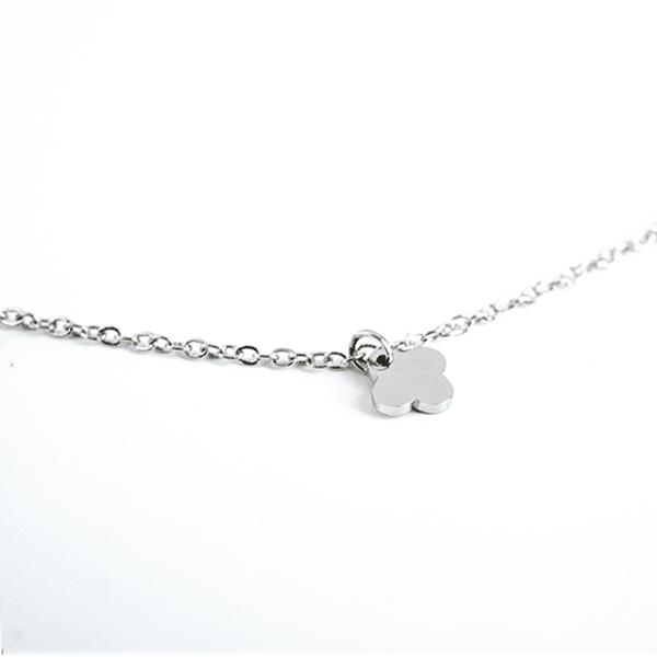 Made by Mila | Enkelbandje dichte klaver zilver - ZAG Bijoux 3