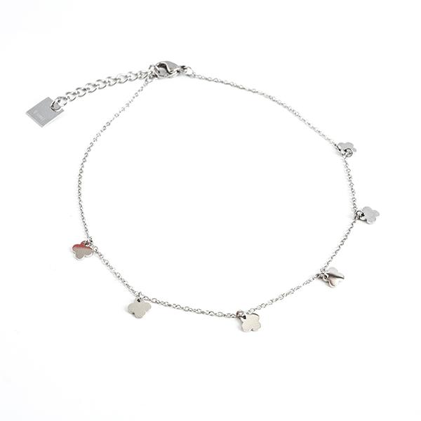 Made by Mila | Enkelbandje dichte klaver zilver - ZAG Bijoux 1