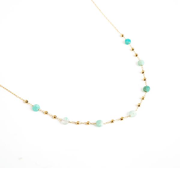 Made by Mila | Ketting turqoise maansteen - ZAG Bijoux 1
