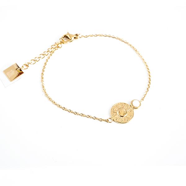 Made by Mila | Armband goud sunshine witte steen - ZAG Bijoux 1