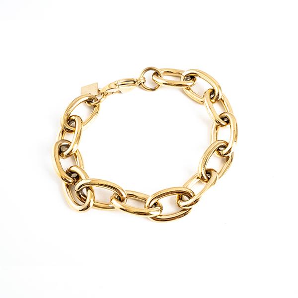 Made by Mila | Armband grove schakel goud - ZAG Bijoux 1