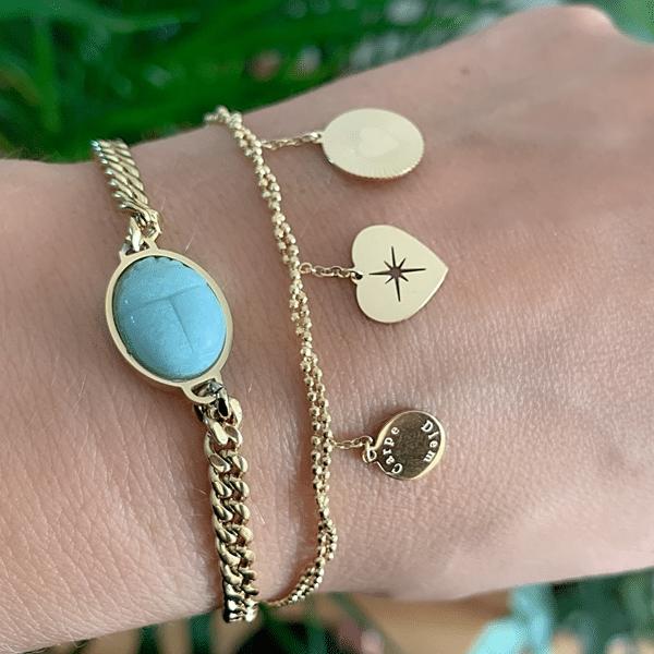 Made by Mila   Armband dubbele armband carpe diem goud - ZAG Bijoux 3