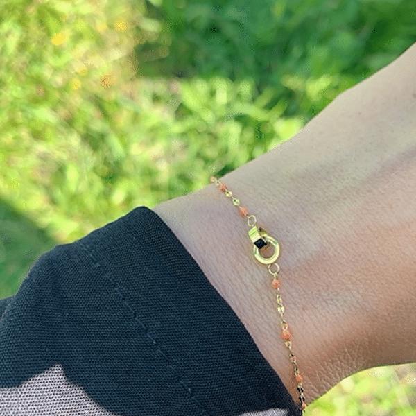 Made by Mila | Armband oranje cartier - ZAG Bijoux 2