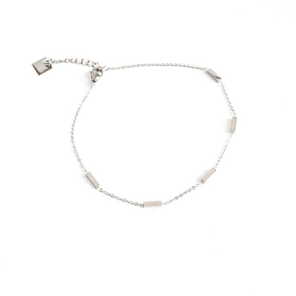 Made by Mila | Enkelbandje recht staafje zilver - ZAG Bijoux 1
