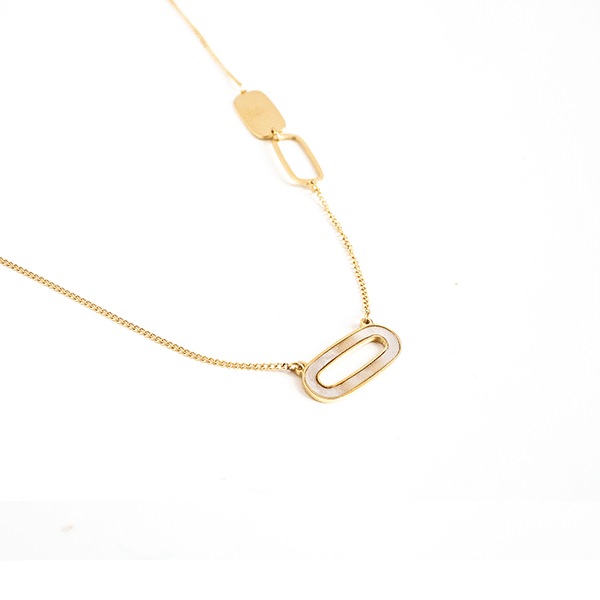Made by Mila | Ketting parelmoer open schakel - ZAG Bijoux 1
