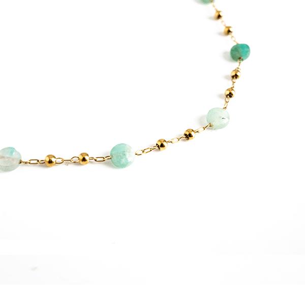 Made by Mila | Ketting turqoise maansteen - ZAG Bijoux 4