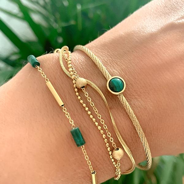 Made by Mila | Armband goud drie kettinkjes divers - ZAG Bijoux 2