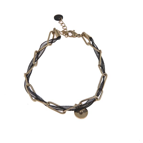 Made by Mila | Armband schakel goud zwart- Go Dutch Label 1