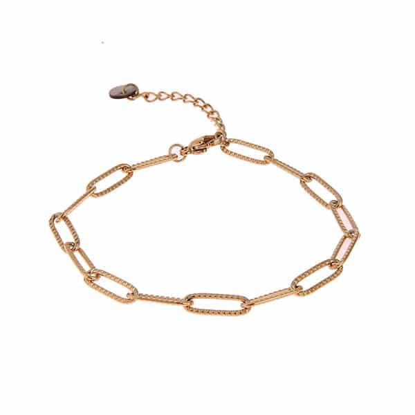 Made by Mila | Armband schakel goud - Go Dutch Label 1