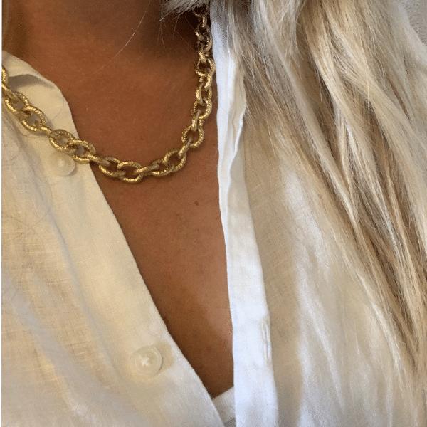 Made by Mila | Ketting grove schakel goud- Go Dutch Label 2