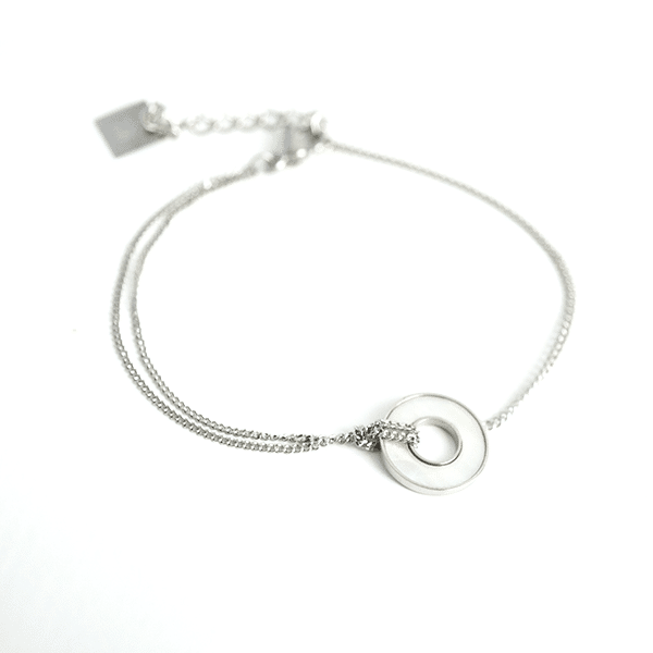 Made by Mila | Armband zilver parel open cirkel - ZAG Bijoux 1