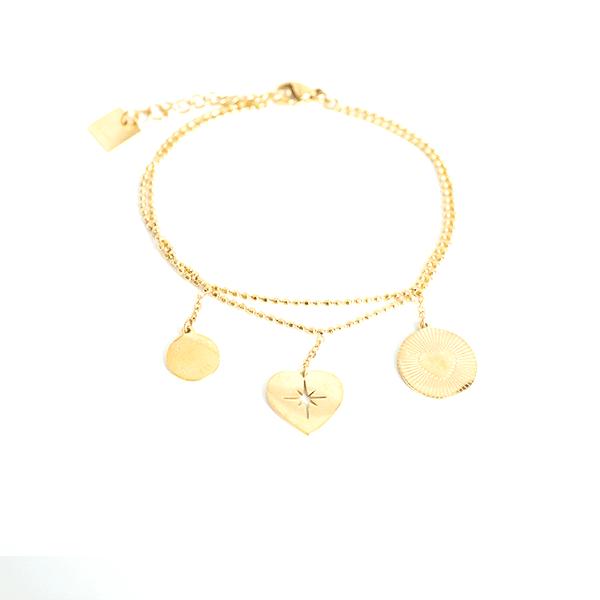 Made by Mila   Armband dubbele armband carpe diem goud - ZAG Bijoux 1