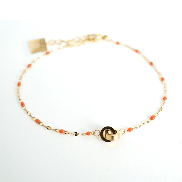 Made by Mila | Armband oranje cartier - ZAG Bijoux 1