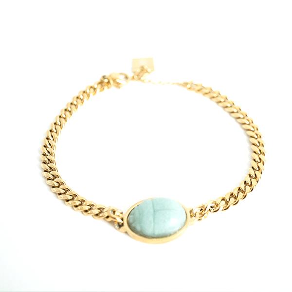 Made by Mila | Armband Amazonite goud - ZAG Bijoux 1
