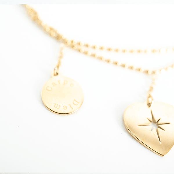 Made by Mila | Armband dubbele armband carpe diem goud - ZAG Bijoux 4