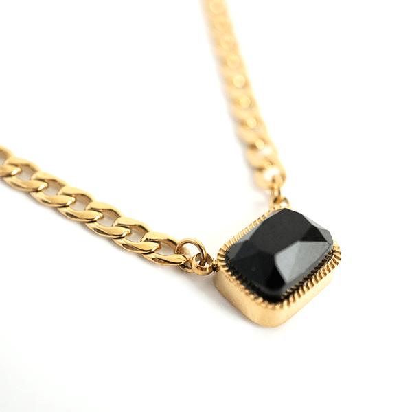 Made by Mila | Ketting onyx schakel - ZAG Bijoux 3