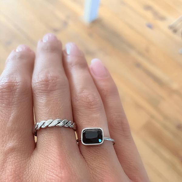Made by Mila | Verstelbare gedraaide zilveren ring- ZAG Bijoux 2